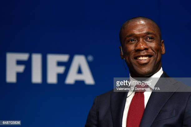 Clarence Seedorf Dutch coach football legend and entrepreneurduring the FIFA Annual Conference for Equality Inclusion at the Home of FIFA on 06 March...