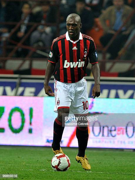 Clarence Seedorf of AC Milan in action during the Serie A match between AC Milan and Juventus FC at Stadio Giuseppe Meazza on May 15 2010 in Milan...
