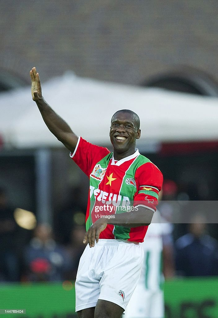 Clarence Seedorf of Suriprofs during the friendly match between Suriprofs and FC Groningen at the Sparta Stadium on May 18 2012 in Rotterdam...