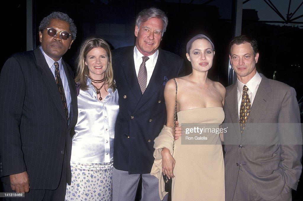 Clarence Williams III Mare Winningham John Frankenheimer Angelina Jolie and Gary Sinese at the Screening of TNT's Original Movie 'George Wallace' DGA...