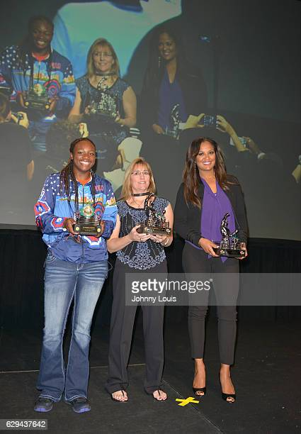 Claressa Shields Christy Martin and Laila Ali attend the 54th Annual WBC Convention at Diplomat Resort Spa Hollywood Curio Collection by Hilton on...