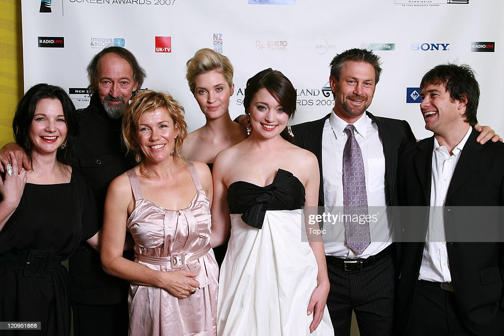 Clarie Chittam Frank Whitten Robyn Malcolm Siobhan Marshall Antonia Prebble Grant Bowler Antony Starr attend the Air New Zealand Screen Awards 2007...