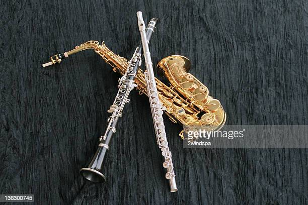 Saxophone et Clarinette, flûte