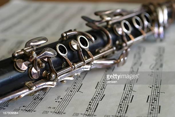 Clarinette sur feuille de musique
