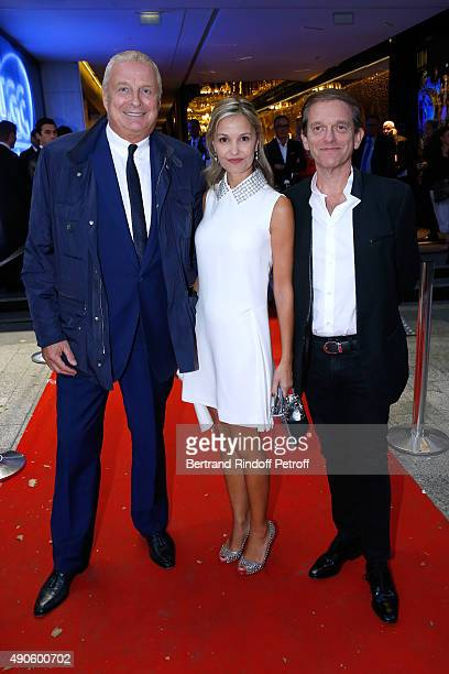 CEO Clarins Christian CourtinClarins Frederic Saldmann and his wife Marie attend the 'Le nouveau Stagiare' movie Premiere to Benefit 'Claude Pompidou...