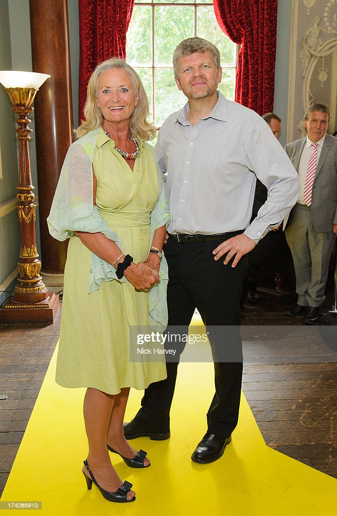 Clarissa Baldwin and Adrian Chiles attend the Dogs Trust Honours 2013 at Home House on July 23, 2013 in London, England.
