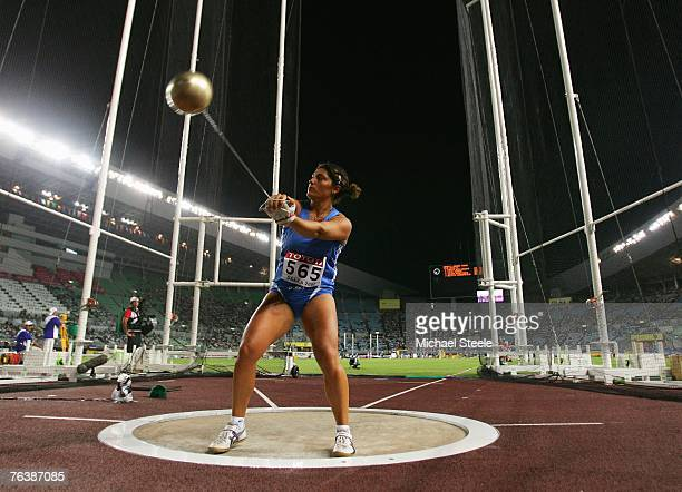 Clarissa Claretti of Italy competes during the Women's Hammer Throw Final on day six of the 11th IAAF World Athletics Championships on August 30 2007...