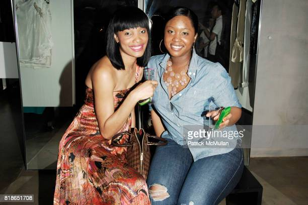 Clarissa Jacques and Stephanie Napoleon attend SANG A LISA WEISS host PARSONS Senior Showcase at DEBUT New York at Debut on June 15 2010 in New York...