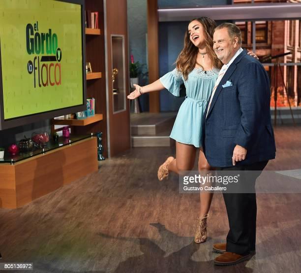 Clarissa Molina and Raul de Molina are seen on the set of Univision's 'El Gordo Y La Flaca' at Univision Studios on June 30 2017 in Miami Florida
