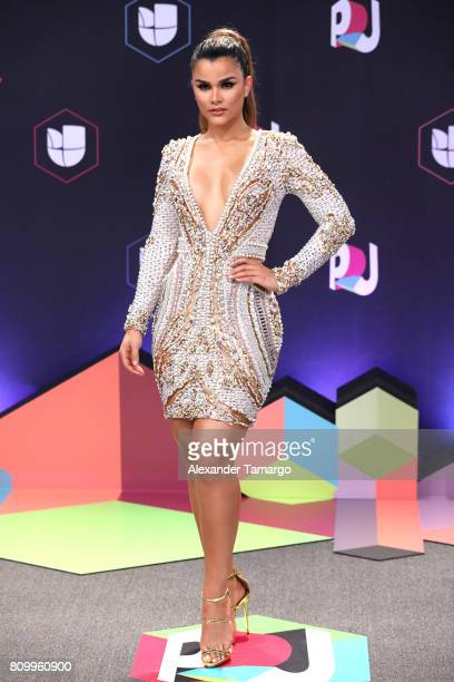 Clarissa Molina attends the Univision's 'Premios Juventud' 2017 Celebrates The Hottest Musical Artists And Young Latinos ChangeMakers at Watsco...