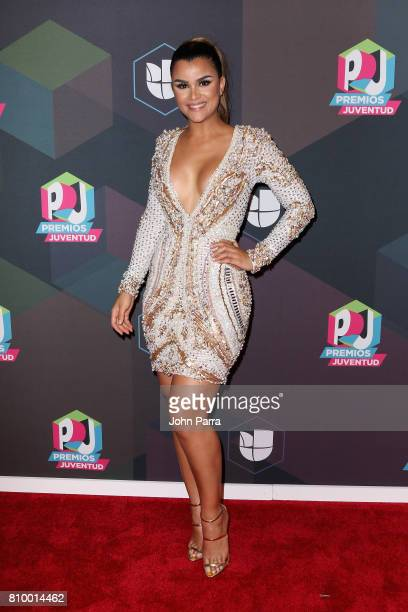 Clarissa Molina attends the Univision's 'Premios Juventud' 2017 Celebrates The Hottest Musical Artists And Young Latinos ChangeMakers Media Center at...