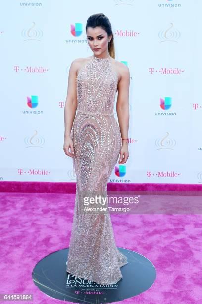 Clarissa Molina attends Univision's 29th Edition of Premio Lo Nuestro A La Musica Latina at the American Airlines Arena on February 23 2017 in Miami...
