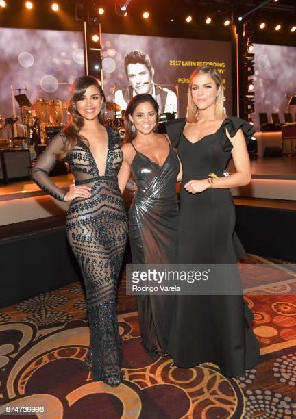 Clarissa Molina Pamela Silva Conde and Daniela di Giacomo attend the 2017 Person of the Year Gala honoring Alejandro Sanz at the Mandalay Bay...