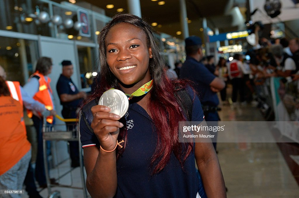 France Olympic Team Arrives At Roissy Charles de Gaulle Airport In Paris