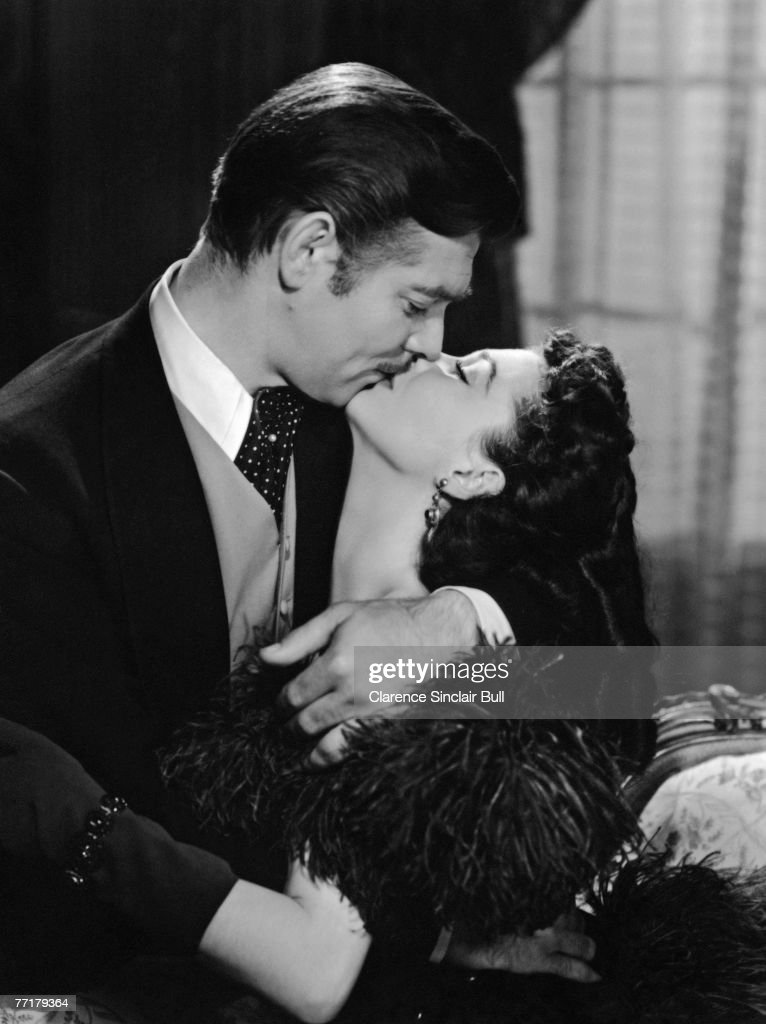 Clark Gable and Vivien Leigh star in the MGM romantic drama 'Gone with the Wind' 1939