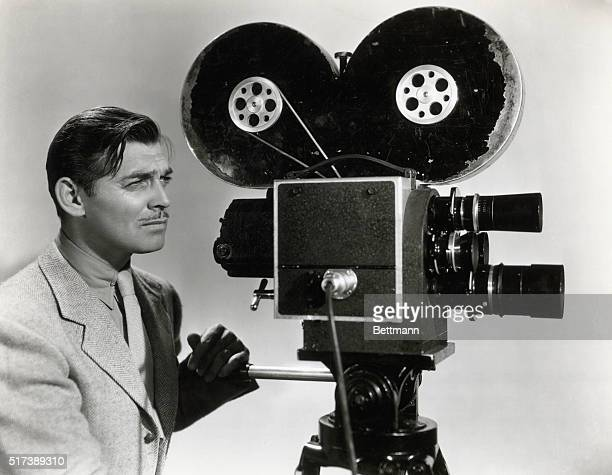 Clark Gable in a publicity photograph for his film Too Hot to Handle 1938 in which he plays a newsreel reporter