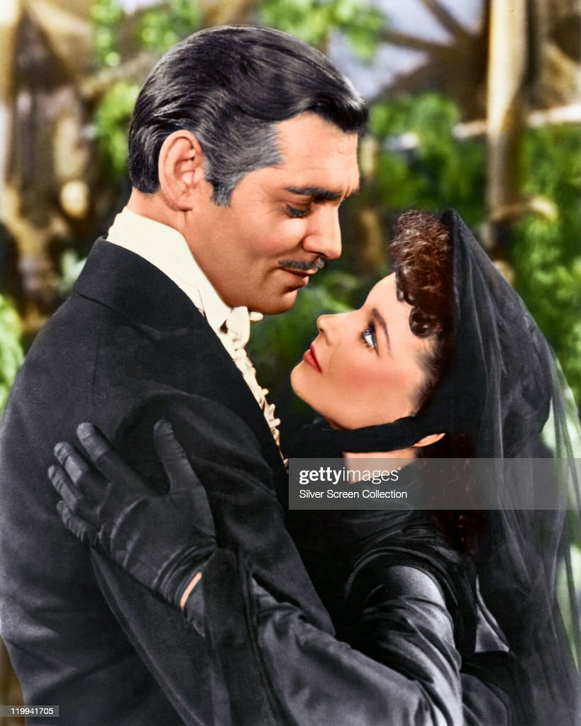 <a gi-track='captionPersonalityLinkClicked' href=/galleries/search?phrase=Clark+Gable&family=editorial&specificpeople=70015 ng-click='$event.stopPropagation()'>Clark Gable</a> (1901–1960), US actor, and <a gi-track='captionPersonalityLinkClicked' href=/galleries/search?phrase=Vivien+Leigh&family=editorial&specificpeople=203321 ng-click='$event.stopPropagation()'>Vivien Leigh</a> (1913-1967), British actress, in a publicity still issued for the film, 'Gone with the Wind', 1939. The drama, directed by Victor Fleming (1889-1949), starred Gable as 'Rhett Butler', and Leigh as 'Scarlett O'Hara'.