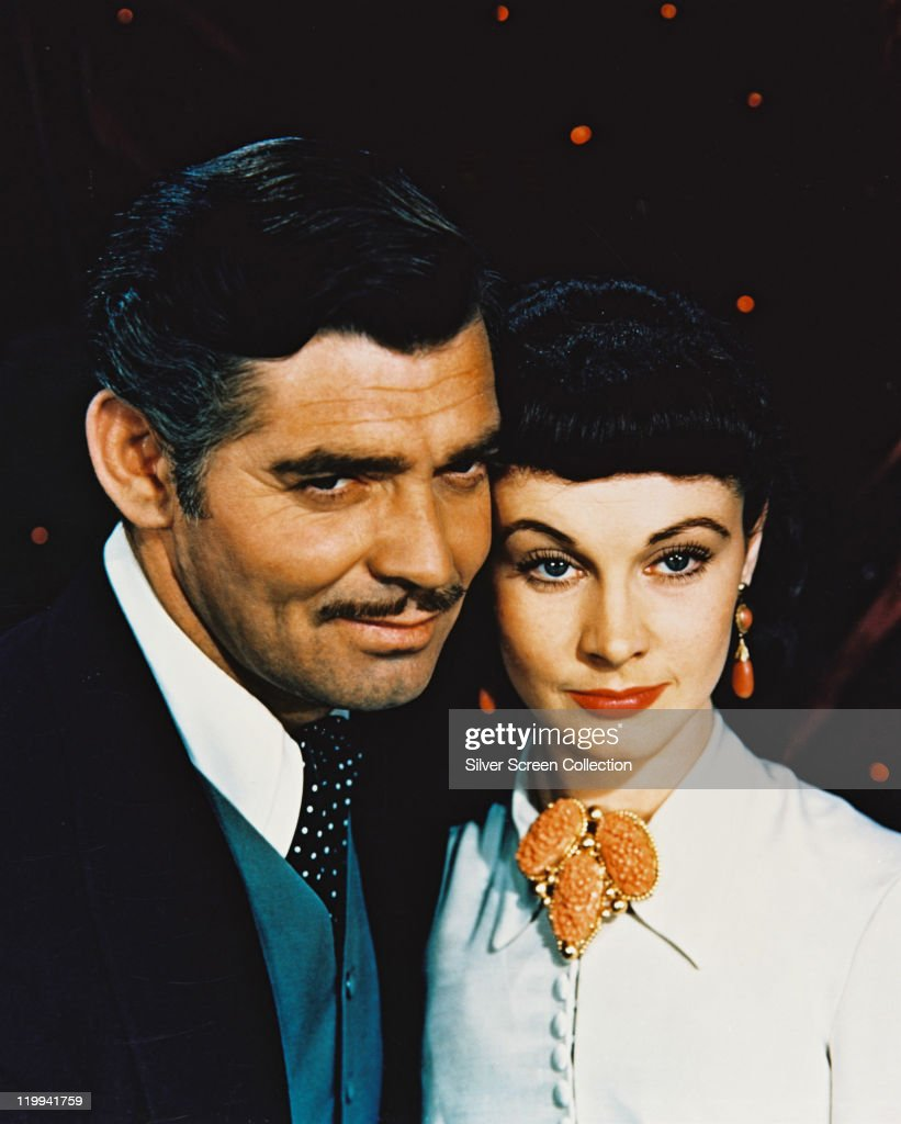 Clark Gable US actor and Vivien Leigh British actress in a publicity still issued for the film 'Gone with the Wind' 1939 The drama directed by Victor...