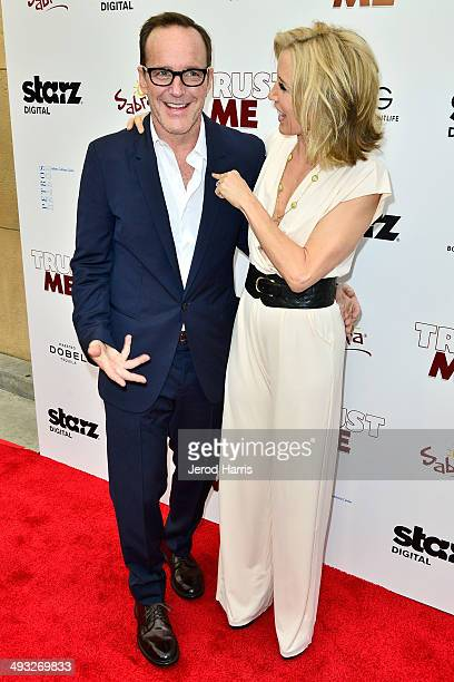 Clark Gregg and Felicity Huffman arrive at the Los Angeles Premiere of 'Trust Me' at the Egyptian Theatre on May 22 2014 in Hollywood California