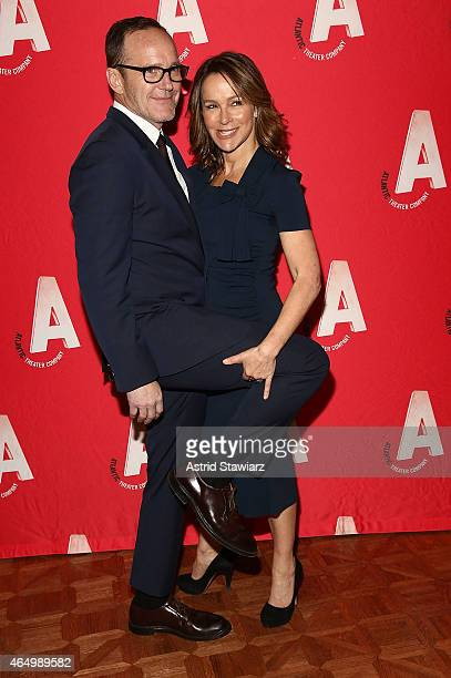 Clark Gregg and Jennifer Grey attend the Atlantic Theater Company 30th Anniversary Gala at The Pierre Hotel on March 2 2015 in New York City