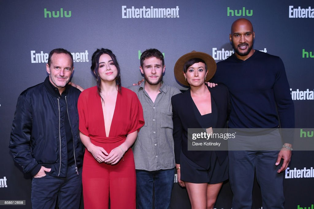 Clark Gregg, Chloe Bennet, Ian De Caestecker, Briana Venskus and Henry Simmons attend Hulu's New York Comic Con After Party at The Lobster Club on October 6, 2017 in New York City.