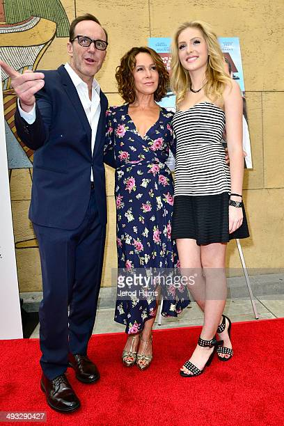 Clark Gregg Jennifer Grey and Saxon Sharbino arrive at the Los Angeles Premiere of 'Trust Me' at the Egyptian Theatre on May 22 2014 in Hollywood...