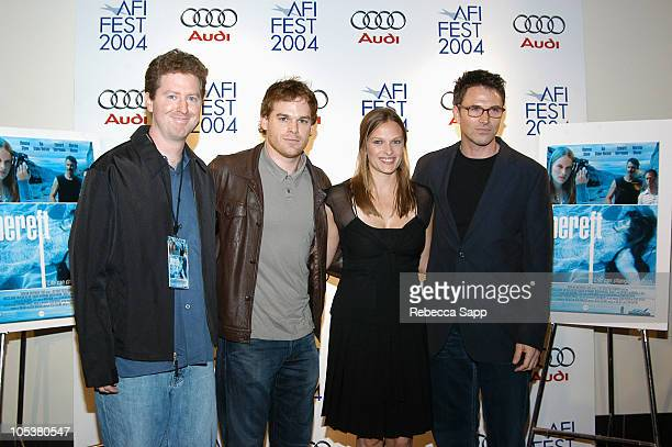 Clark Mathis codirector of 'Bereft' Michael C Hall Vinessa Shaw and Tim Daly codirector of 'Bereft'