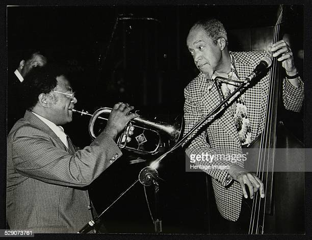Clark Terry and Slam Stewart playing in a tribute concert to Charlie Parker at the Capital Radio Jazz Festival Royal Festival Hall London 14 July...