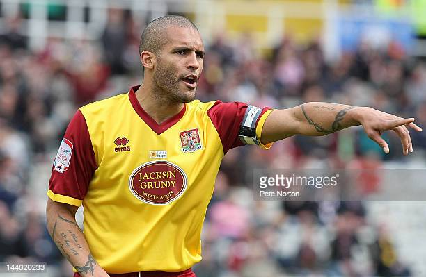 Clarke Carlisle of Northampton Town in action during the npower League Two match between Rotherham United and Northampton Town at the Don Valley...