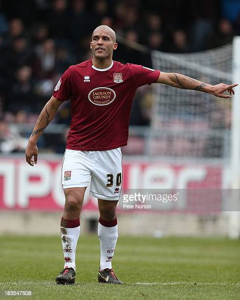 Clarke Carlisle of Northampton Town in action during the npower League Two match between Northampton Town and Accrington Stanley at Sixfields Stadium...