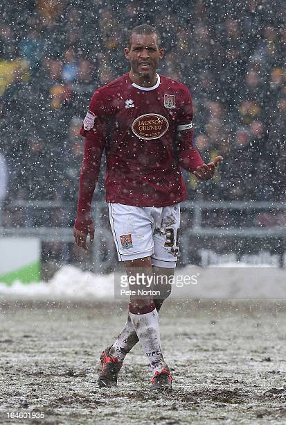 Clarke Carlisle of Northampton Town in action during the npower League Two match between Northampton Town and Oxford United at Sixfields Stadium on...