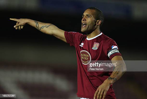 Clarke Carlisle of Northampton Town in action during the npower League Two match between Northampton Town and Torquay United at Sixfields Stadium on...