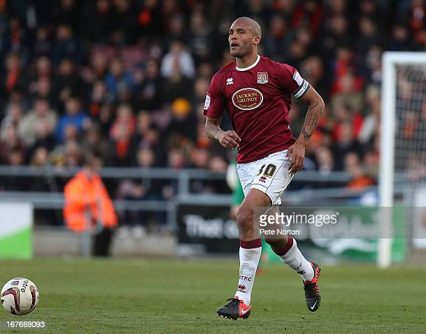 Clarke Carlisle of Northampton Town in action during the npower league Two match between Northampton Town and Barnet at Sixfields Stadium on April 27...