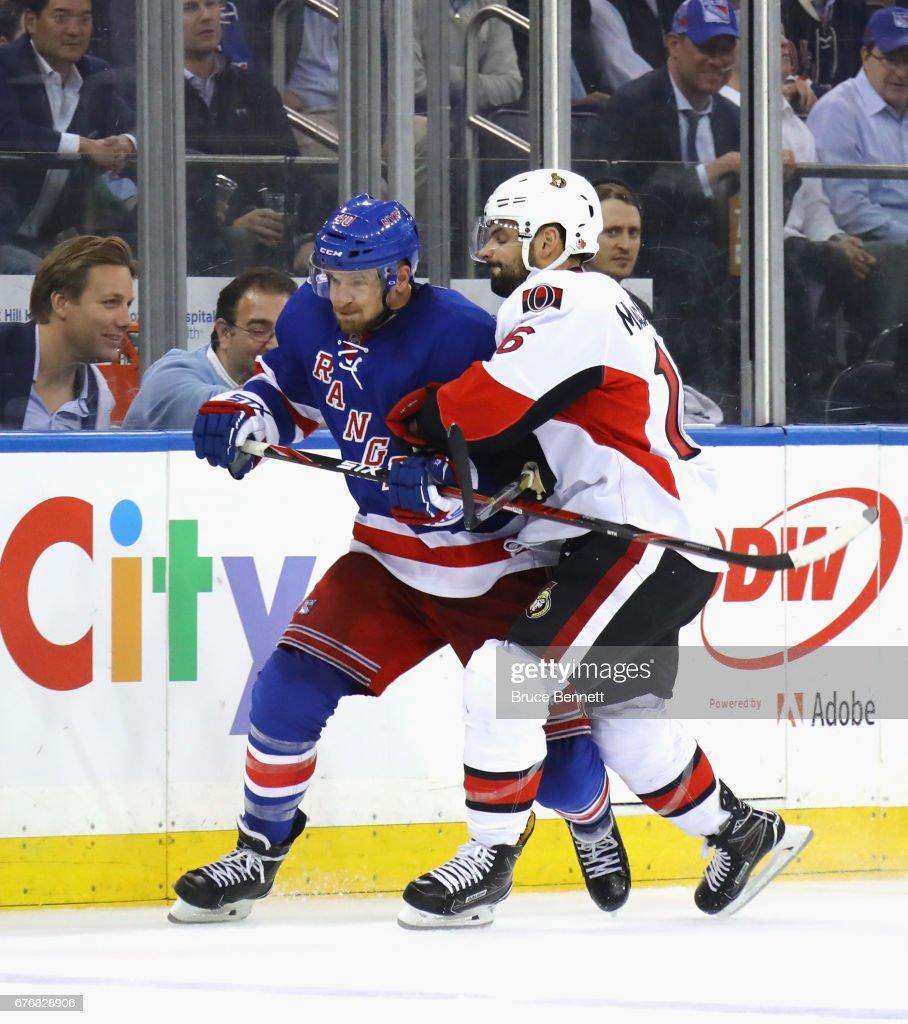 Ottawa Senators v New York Rangers - Game Three