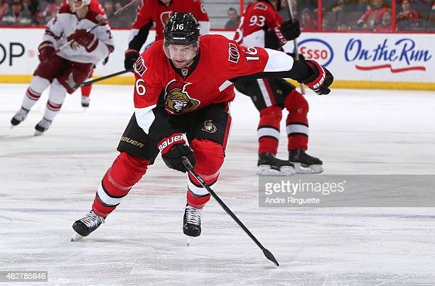 Clarke MacArthur of the Ottawa Senators skates against the Arizona Coyotes at Canadian Tire Centre on January 31 2015 in Ottawa Ontario Canada