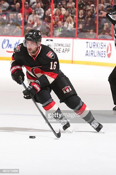 Clarke MacArthur of the Ottawa Senators skates against the Dallas Stars at Canadian Tire Centre on January 29 2015 in Ottawa Ontario Canada