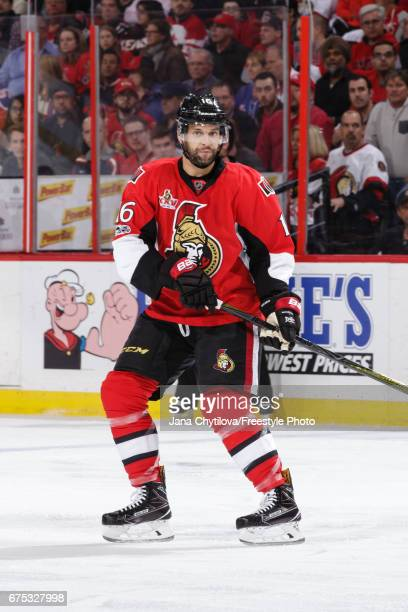 Clarke MacArthur of the Ottawa Senators skates against the New York Rangers in Game Two of the Eastern Conference Second Round during the 2017 NHL...