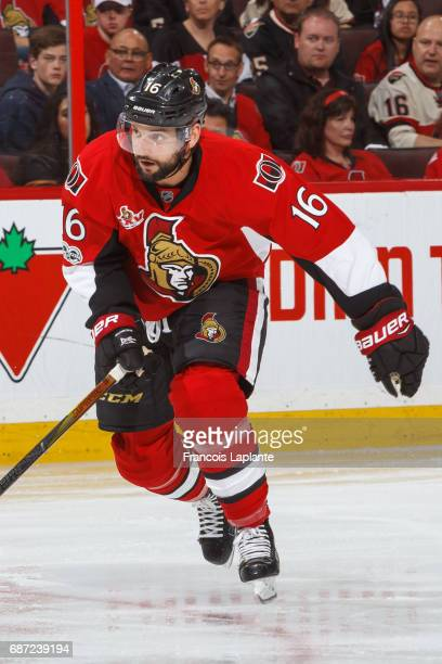 Clarke MacArthur of the Ottawa Senators skates against the Pittsburgh Penguins in Game Four of the Eastern Conference Final during the 2017 NHL...
