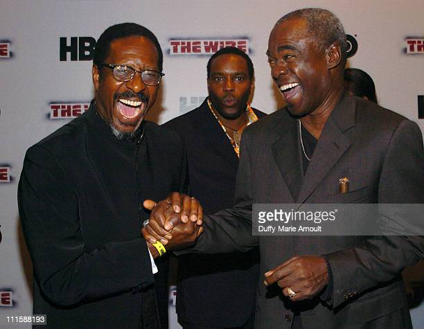 Clarke Peters and Glynn Turman during HBO's 'The Wire' New York Premiere September 7 2006 at Chelsea West Cinema in New York City New York United...