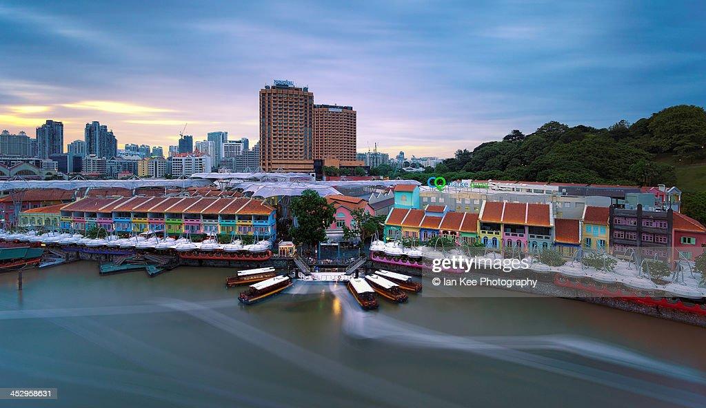 Clarke Quay Sunset - Singapore