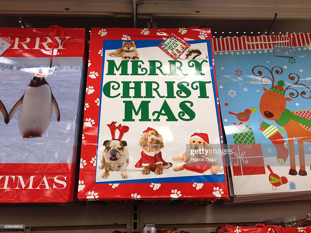 Clarkston Washington state USA _Christmas greetings cards and christmas gift bags at dollar sore 17 December 2014 hoto by Francis Joseph...