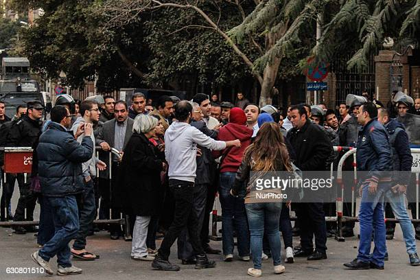 Clashes between Protesters the decision to hand over control of two islands quot tiran and sanafir quot to Saudi Arabia and the police in front of...