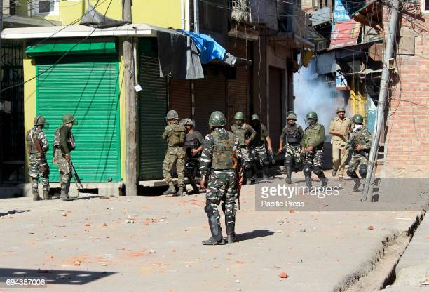 Clashes erupted between security forces and Protesters after Friday prayers at Lal chowk area of Anantnag district some 60kms From summer captail of...