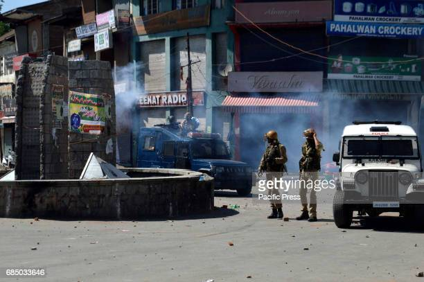 LAL CHOWK ANANTNAG JAMMU KASHMIR INDIA Clashes erupted in Anantnag town of south Kashmir on Thursday after the government forces allegedly roughed up...
