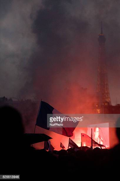 Clashes in Paris France during the demonstration 'Against Hollande' on January 26 2014
