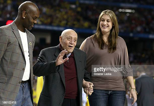 Class of 2013 Basketball Hall of Fame inductees Gary Payton and Jerry Tarkanian stand on the court as the Naismith Memorial Basketball Hall of Fame...