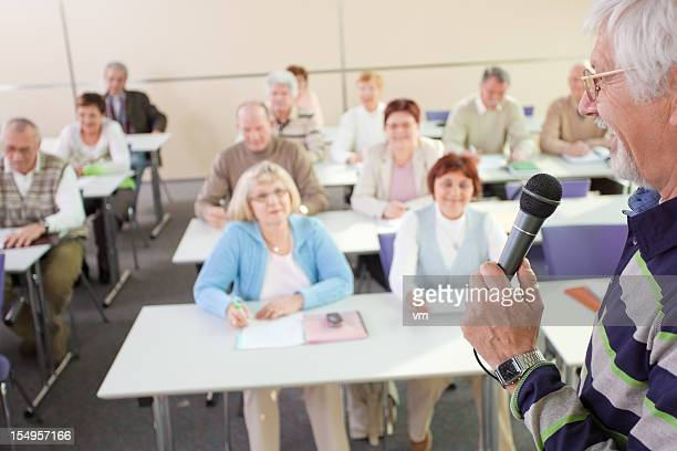 Class of Adults Enrolled in Lifelong Learning Programme