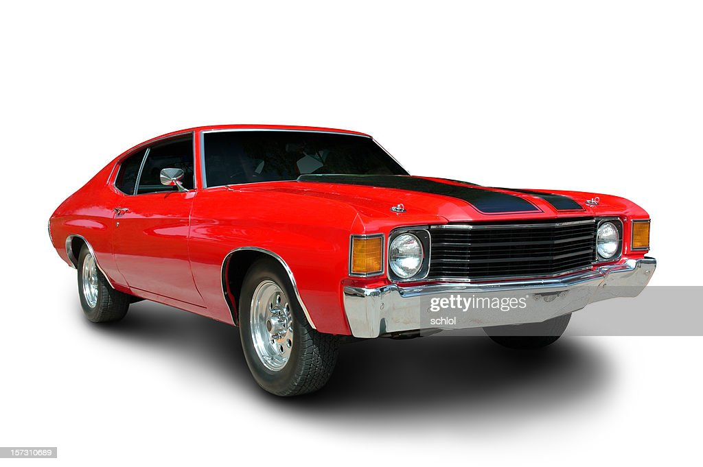 Classic 1971 Chevelle Muscle Car : Stock Photo