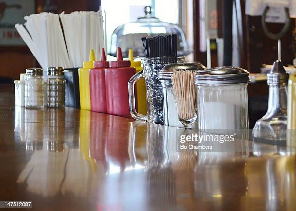 Classic American diner counter top