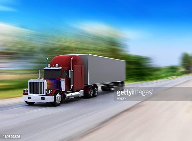 Klassische amerikanische Lkw in Aktion